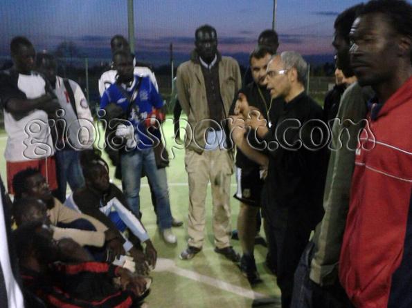 Don Roberto parla alla squadra
