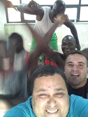 Selfie-promozione del dirigente Bagalà e di mister Mammoliti