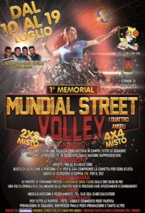 Locandina Memorial volley