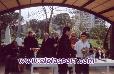 Francesco Rotondo premiato dallassessore allo sport di Rende dott. Antonio Rao dopo il successo ottenuto nel mese di Dicembre presso il Circolo del tennis di Rende